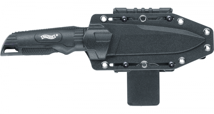 Walther Back Up Knife in adjustable hardcover sheath