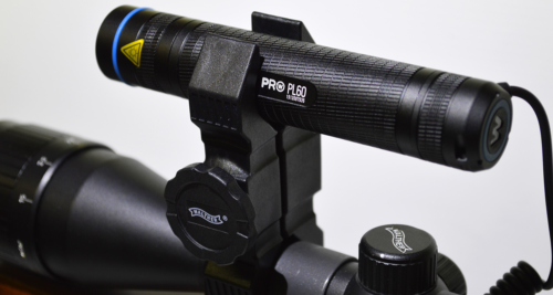 Walther Pro PL60RS attached using universal mount