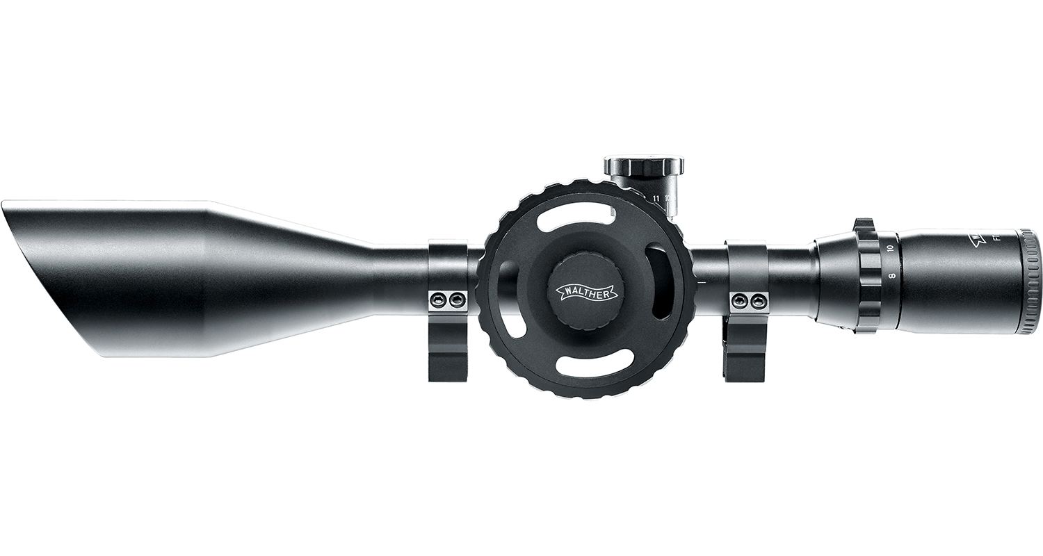 Walther 8-32x56 scope and rings
