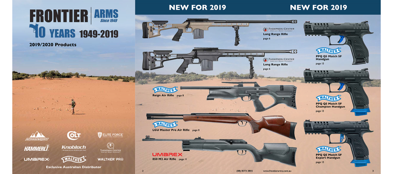 2019/20 Product Catalogue out now • Frontier Arms